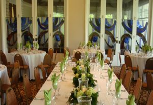 Event set up at Brenham Country Club