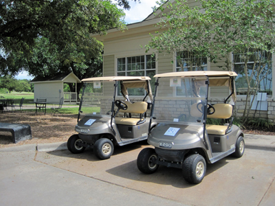 Golf carts prepped and ready