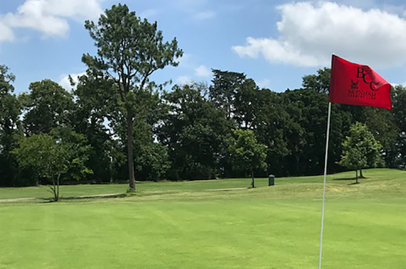 Course image with flag