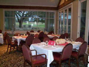 Event set up at Brenham Country Club