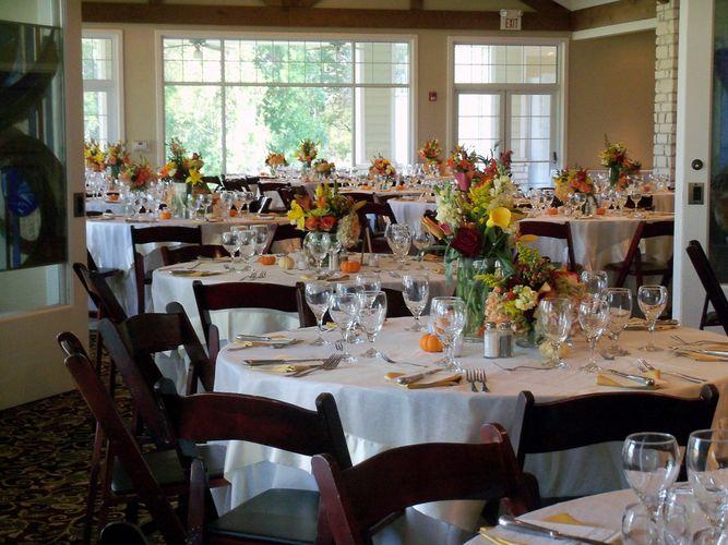 Wedding set up at Brenham Country Club